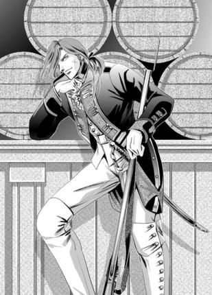 18世紀プロイセン下士官-白黒.jpg