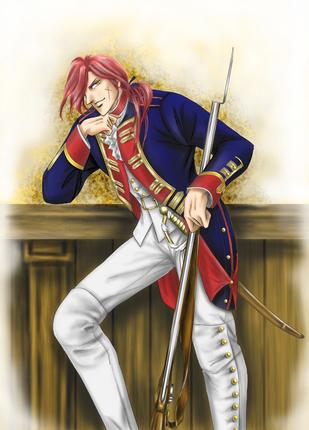 18世紀プロイセン下士官カラー